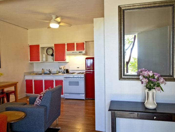 room 204 living and kitchen area