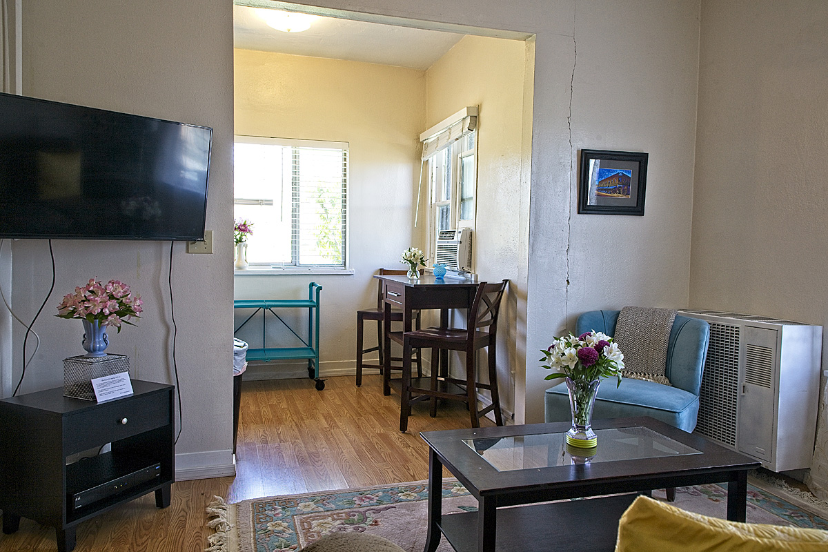 room 207 living and dining area