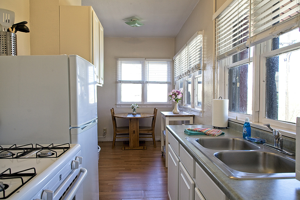 room 208 kitchen looking into dining area