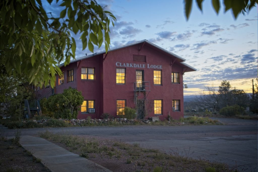 the exterior of the clarkdale lodge